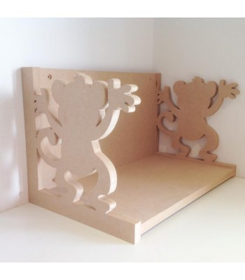 Routered 18mm MDF Quality Flat packed Cheeky Monkey Book Shelf